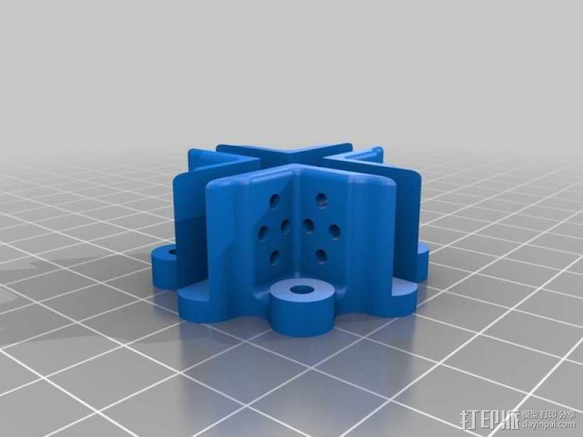 直流电机支架 3D模型  图2
