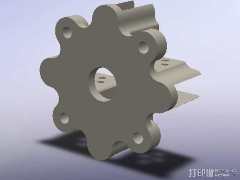 直流电机支架 3D模型  图3