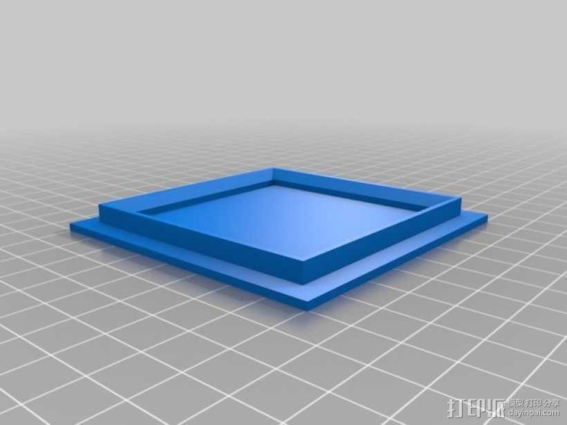 LED发光板 底座 3D模型  图2