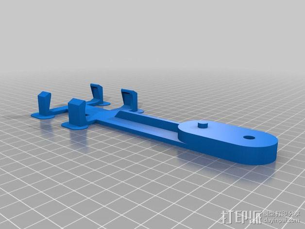 Boscam FPV接收机支架 3D模型  图2