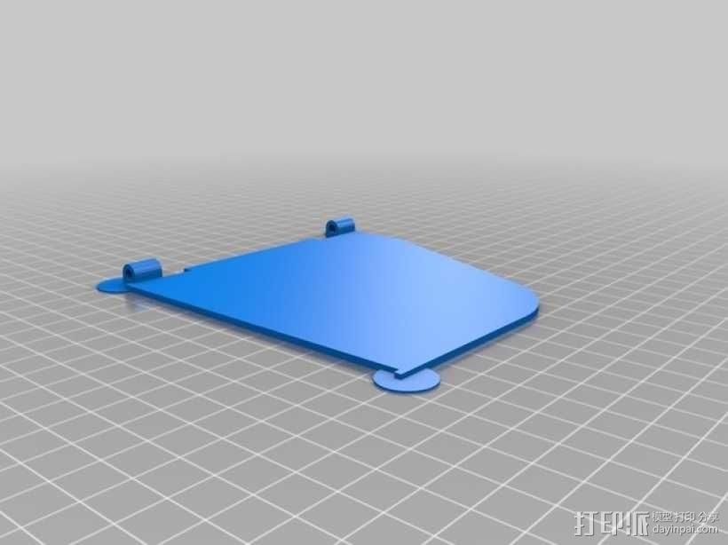 FPV显示屏 保护罩 3D模型  图4