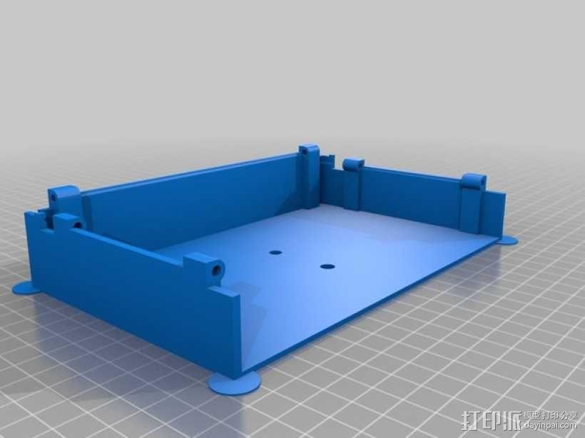 FPV显示屏 保护罩 3D模型  图3