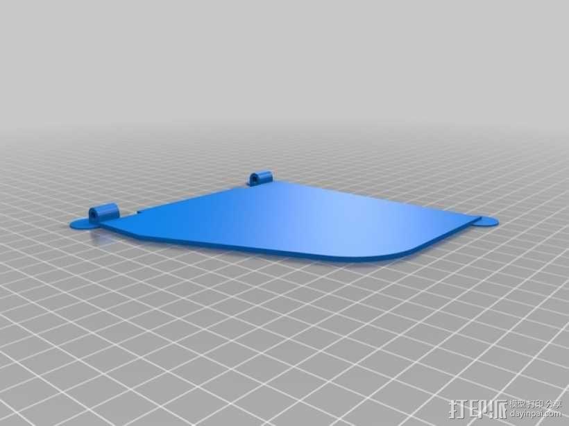 FPV显示屏 保护罩 3D模型  图6