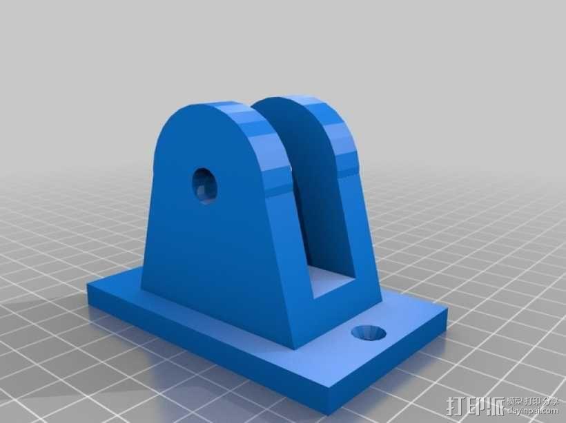 参数化角磨机支架 3D模型  图2