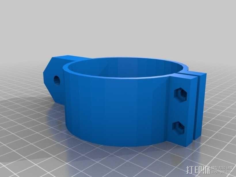 参数化角磨机支架 3D模型  图3