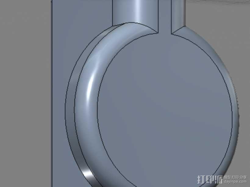 笔记本电脑摄像头 遮挡环 3D模型  图1