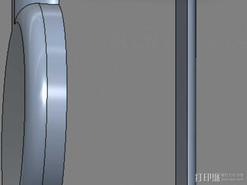 笔记本电脑摄像头 遮挡环 3D模型  图3
