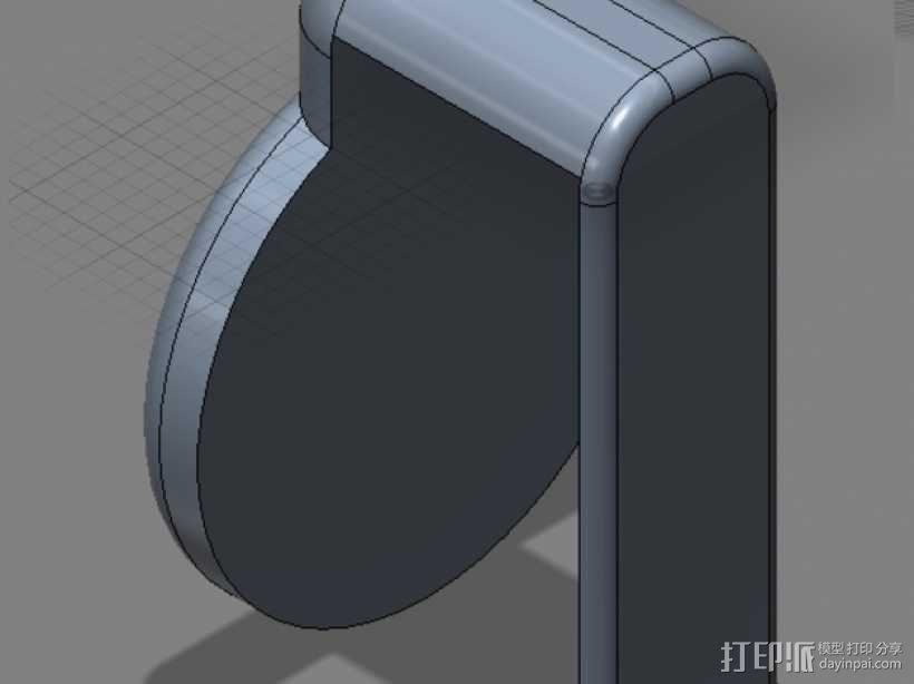 笔记本电脑摄像头 遮挡环 3D模型  图4