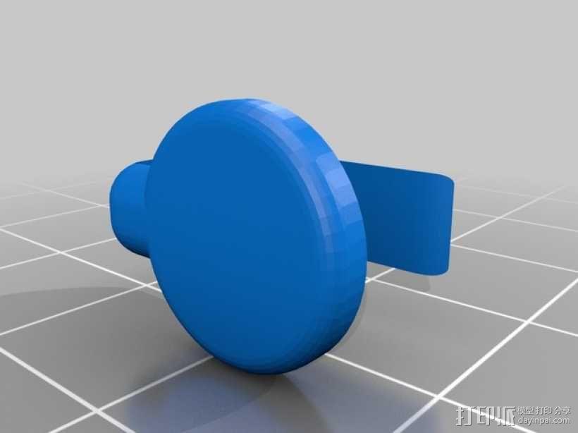 笔记本电脑摄像头 遮挡环 3D模型  图2