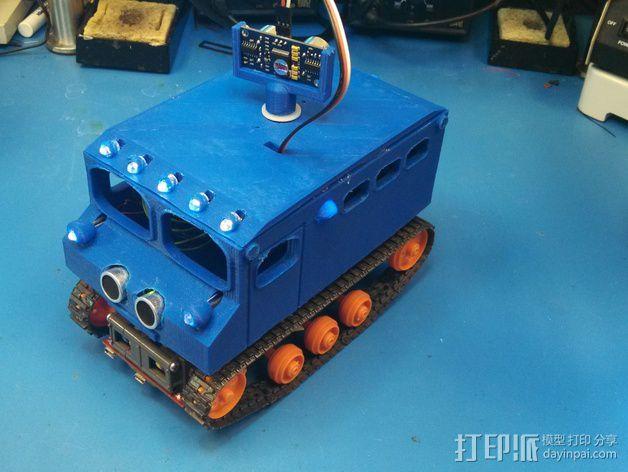 """Logitraxx""""雪地先锋""""履带式机器人 3D模型  图6"""