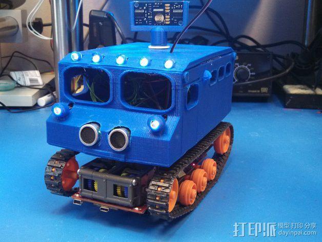 """Logitraxx""""雪地先锋""""履带式机器人 3D模型  图5"""