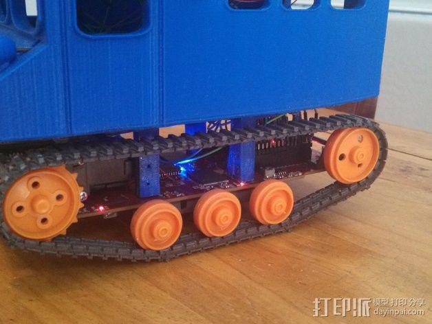 """Logitraxx""""雪地先锋""""履带式机器人 3D模型  图3"""
