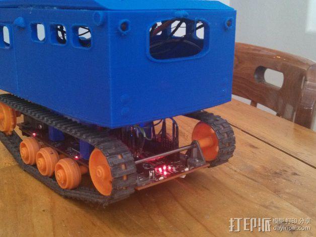 """Logitraxx""""雪地先锋""""履带式机器人 3D模型  图4"""
