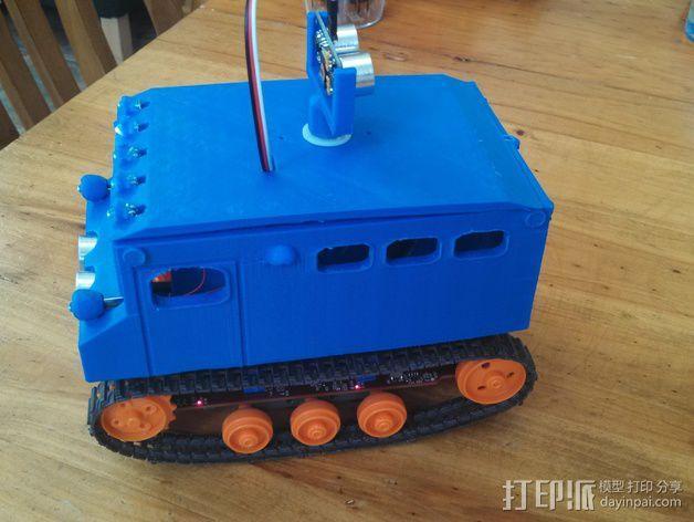 """Logitraxx""""雪地先锋""""履带式机器人 3D模型  图2"""