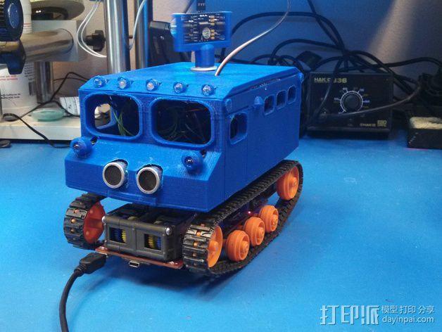 """Logitraxx""""雪地先锋""""履带式机器人 3D模型  图7"""