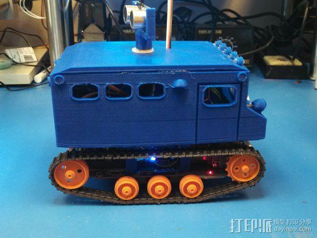 """Logitraxx""""雪地先锋""""履带式机器人 3D模型  图8"""