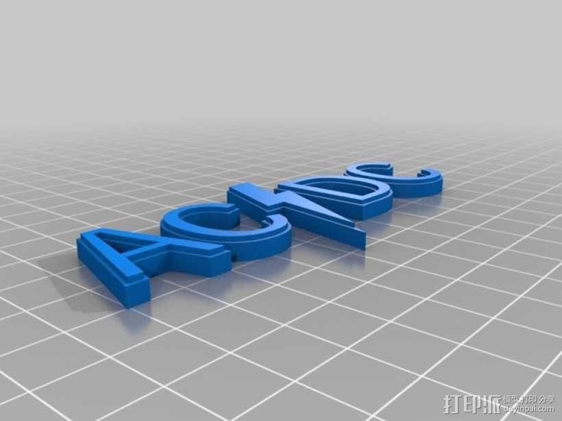 AC/DC 标志 3D模型  图1