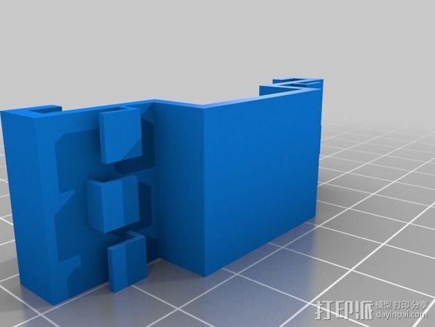 霍尔效应传感器 固定夹 3D模型  图2