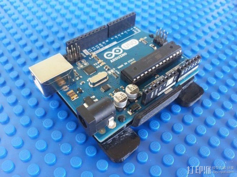 Arduino电路板 底座 3D模型  图1