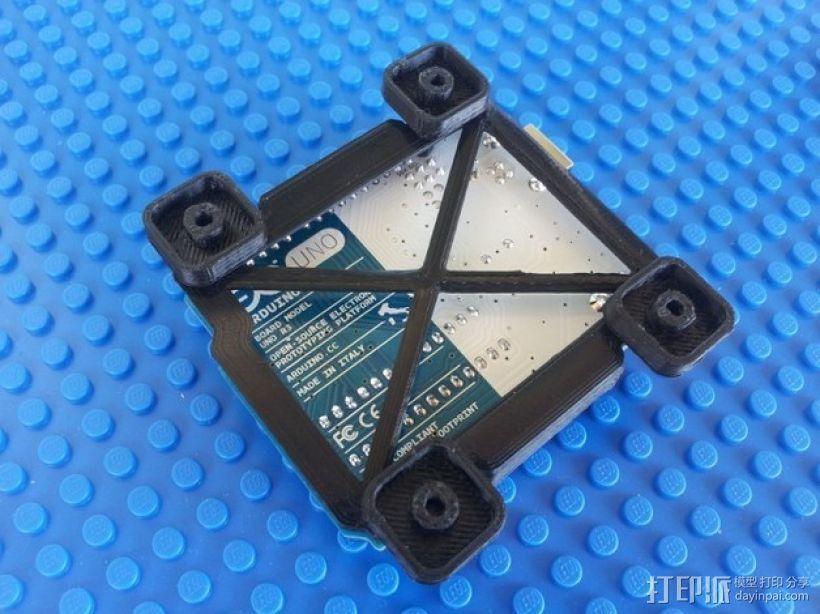 Arduino电路板 底座 3D模型  图3