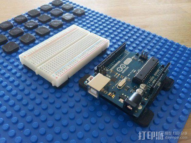 Arduino电路板 底座 3D模型  图2