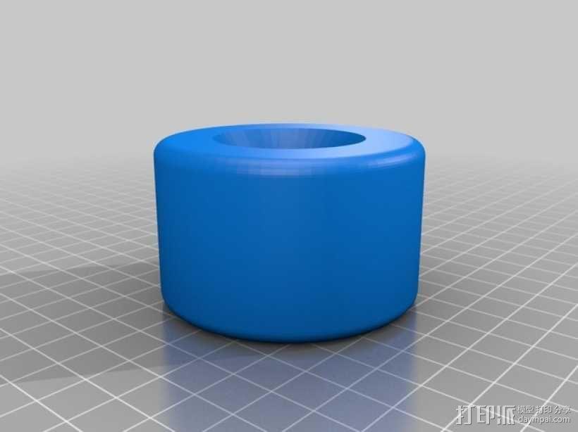 长板 轮子 3D模型  图1
