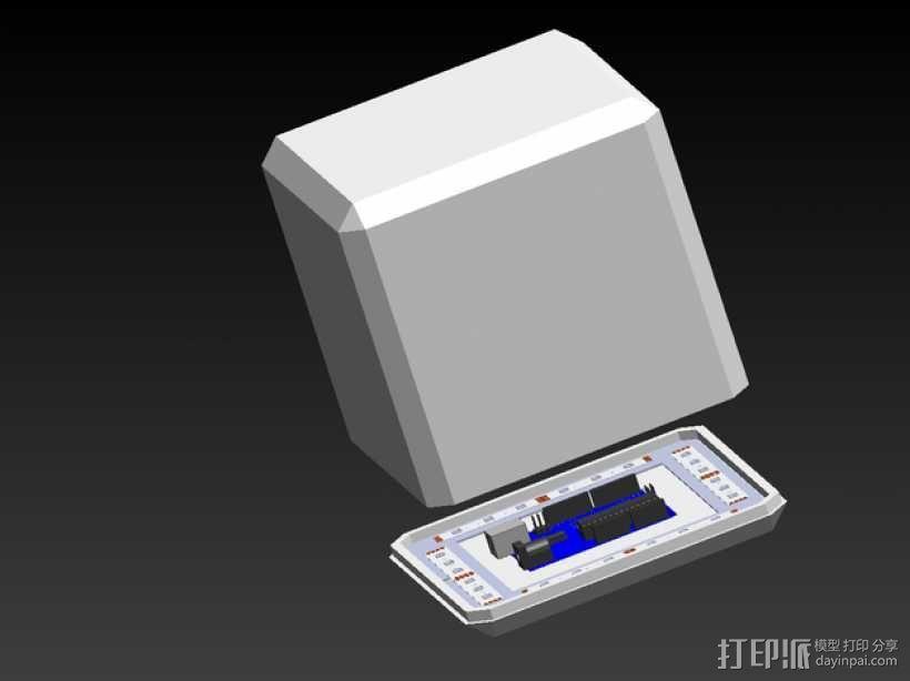 RGB LED发光立方体 外壳 3D模型  图1