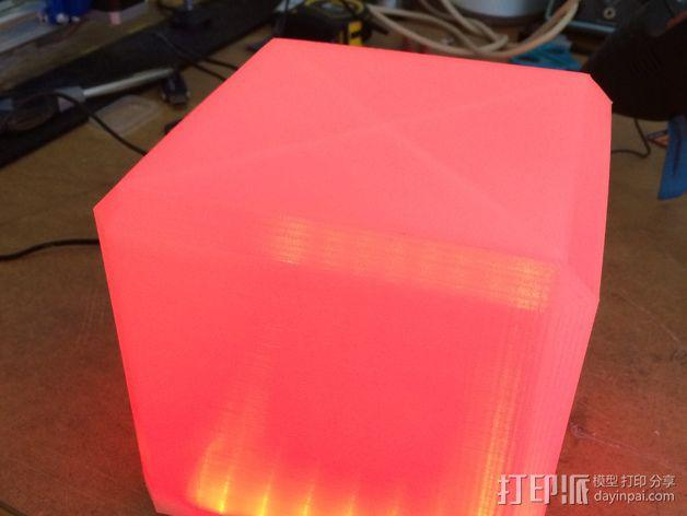 RGB LED发光立方体 外壳 3D模型  图3