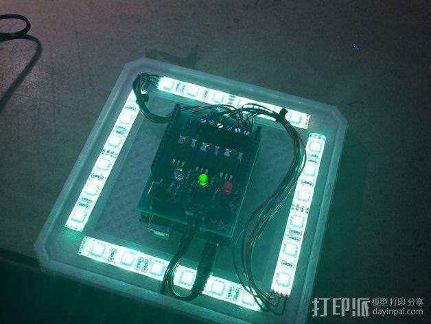 RGB LED发光立方体 外壳 3D模型  图7