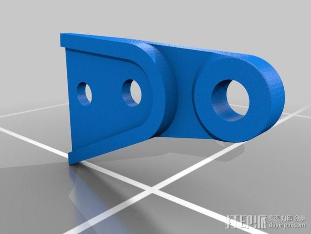 DJI Flame Wheel 330四轴飞行器 起落架 3D模型  图2