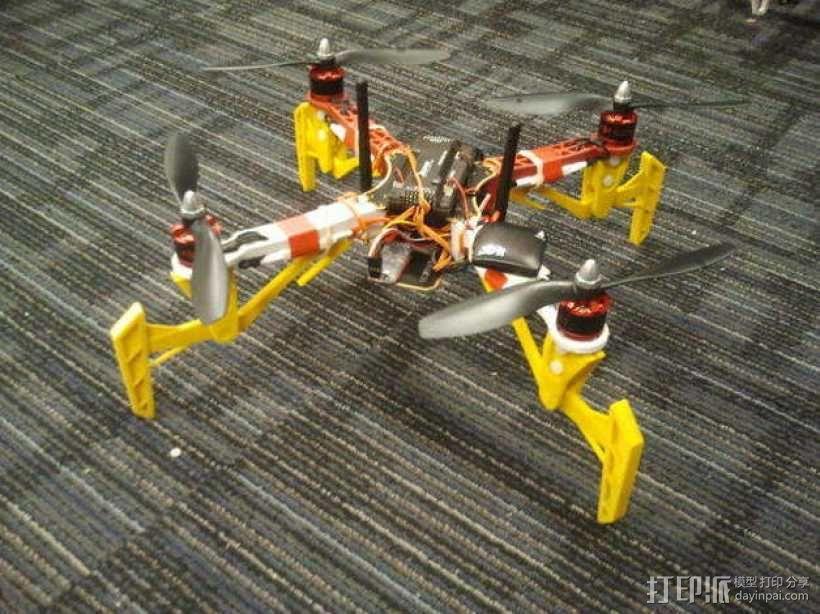 DJI Flame Wheel 330四轴飞行器 起落架 3D模型  图1