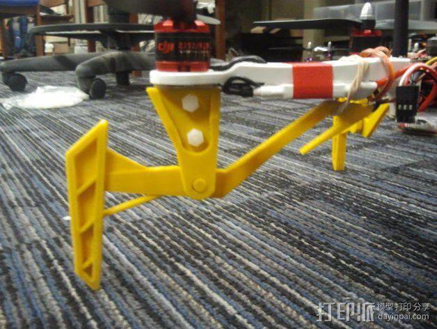 DJI Flame Wheel 330四轴飞行器 起落架 3D模型  图5