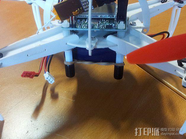 四轴飞行器起落架 3D模型  图3