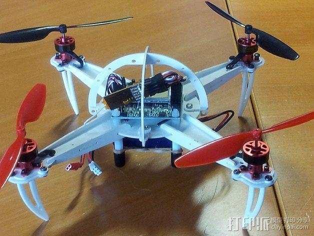 四轴飞行器起落架 3D模型  图4