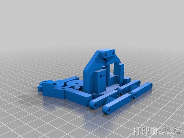 简易伺服爪 3D模型  图2