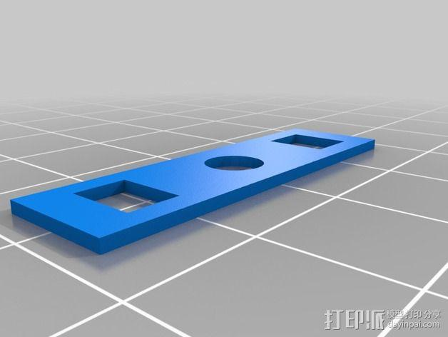 DJI PHANTOM充电器 开关锁面板 3D模型  图2