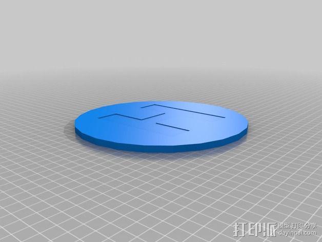 迷你直升飞机 起降场  3D模型  图1