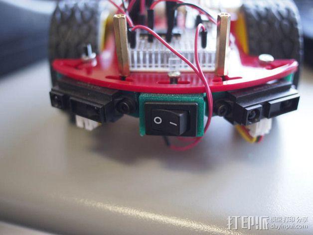 Quickbot机器人 开关支座  3D模型  图1