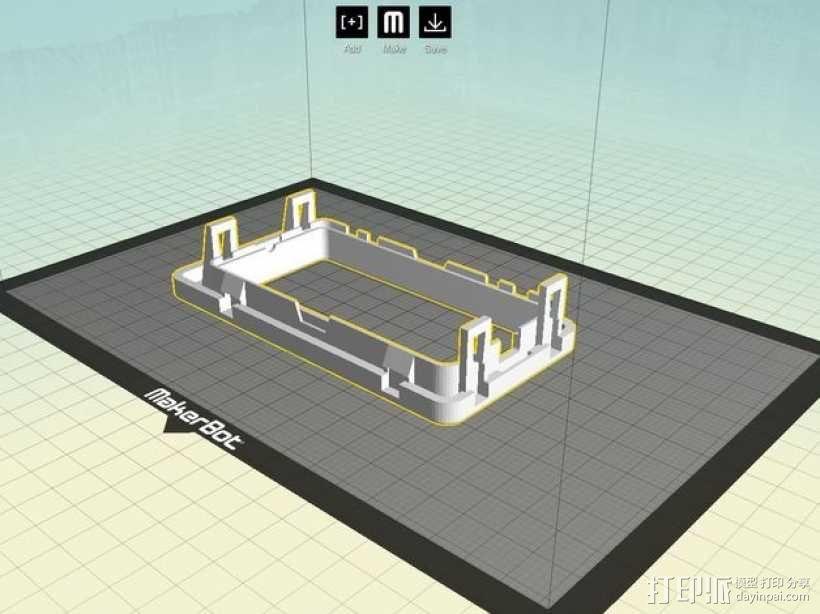 日产汽车 空调通风口塑料罩 3D模型  图4