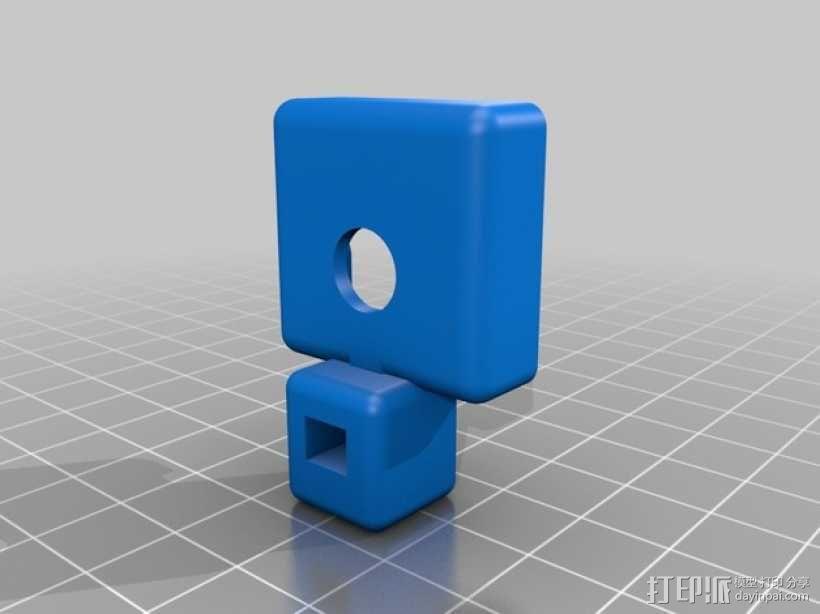 树莓派相机三角架 3D模型  图3