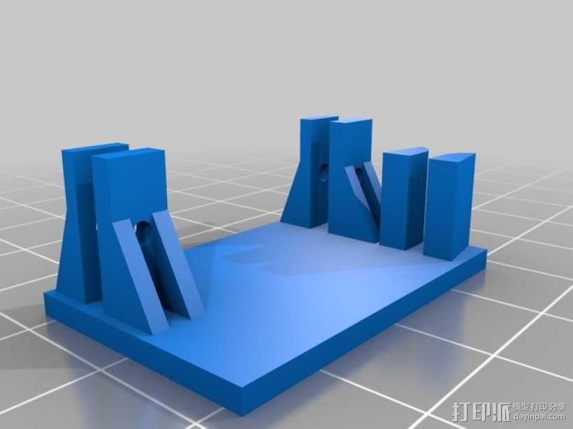 TG9e伺服支架 3D模型  图1
