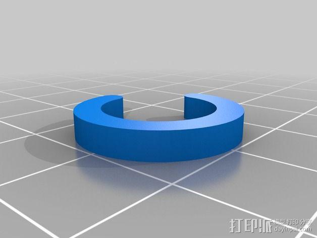 船只桨架垫片 3D模型  图2