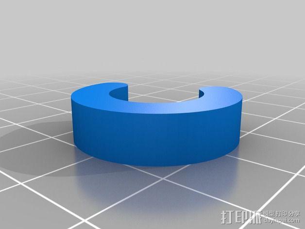 船只桨架垫片 3D模型  图3
