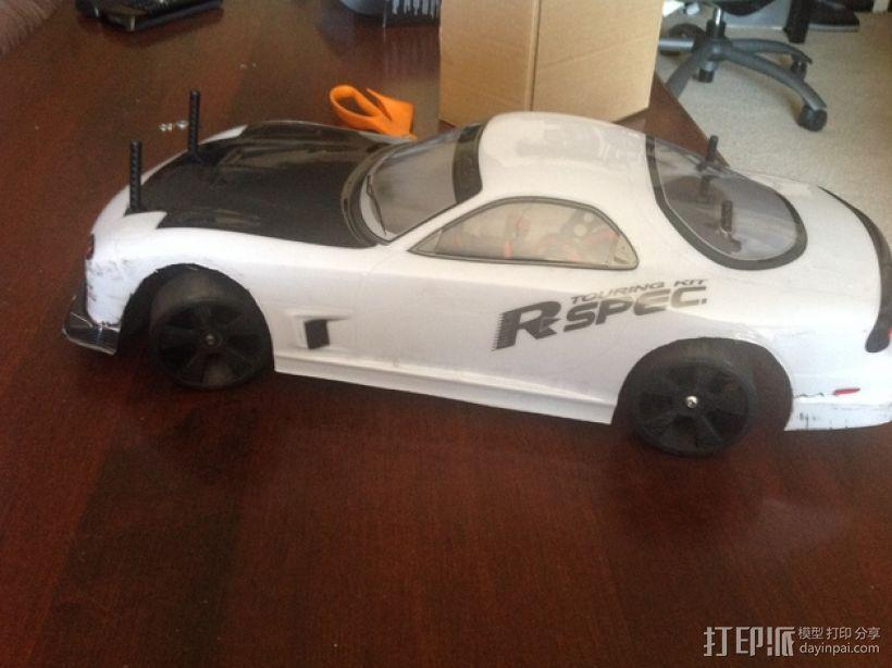 漂移专用轮胎 3D模型  图1