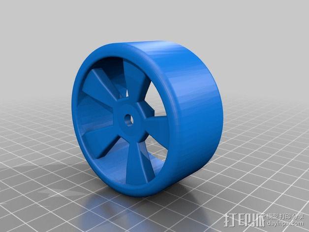 漂移专用轮胎 3D模型  图2