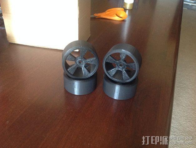 漂移专用轮胎 3D模型  图3