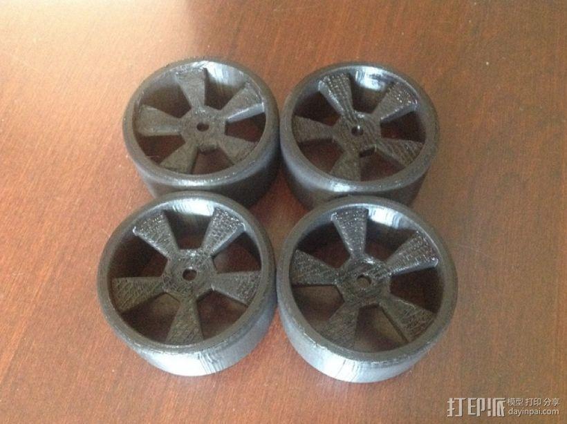 漂移专用轮胎 3D模型  图4