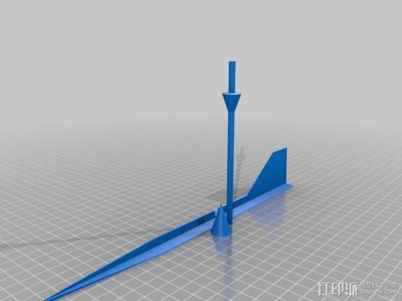 风向仪  3D模型  图1