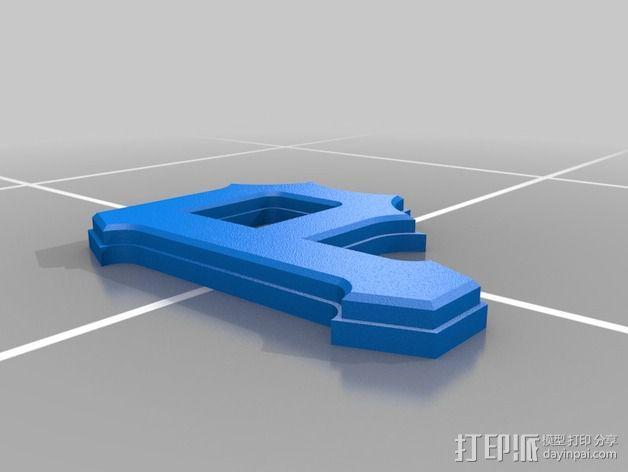 匹兹堡海盗队 标志 3D模型  图2