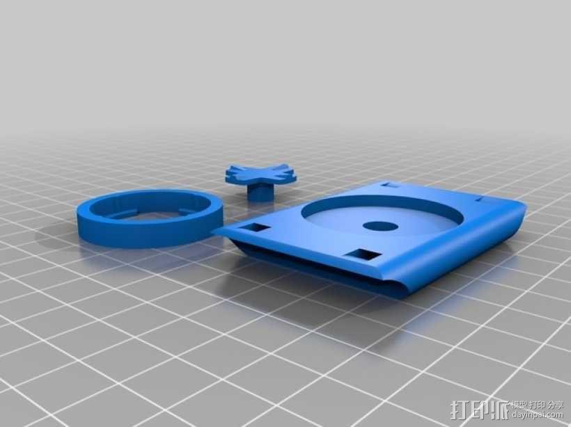 Garmin Edge自行车码表安装支架 3D模型  图2